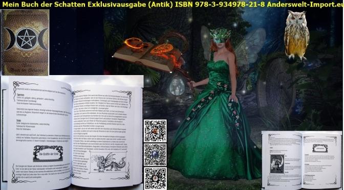 Buch der Schatten Exklusivausgabe Antik in Deutsch