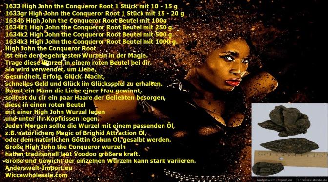 High John the Conqueror Root Voodoo, Santeria High John Wurzelzauber, Gris Gris, Mojo Bag, Devil Pod